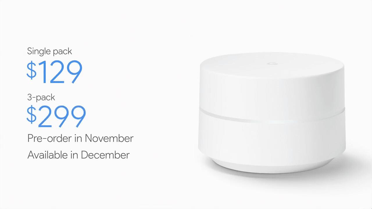 Google announces 'Wifi' a $129 smart router that kills deadzones