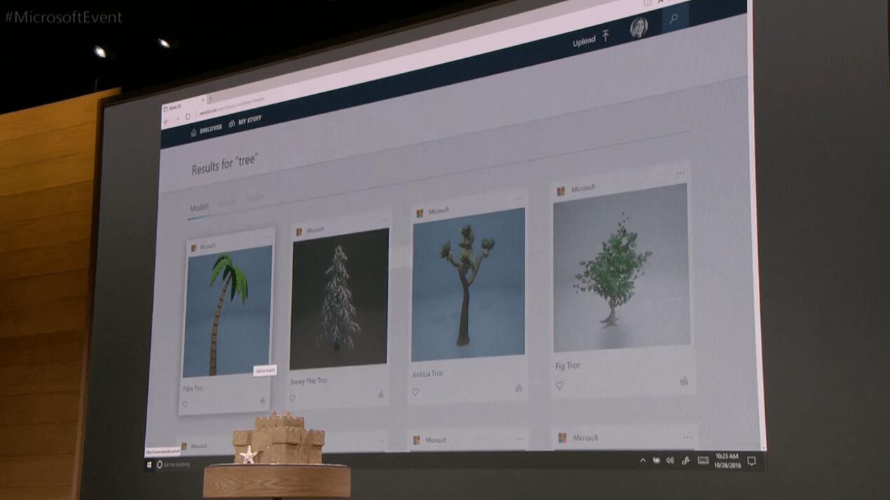Microsoft announces Remix3D web community for the new Paint app