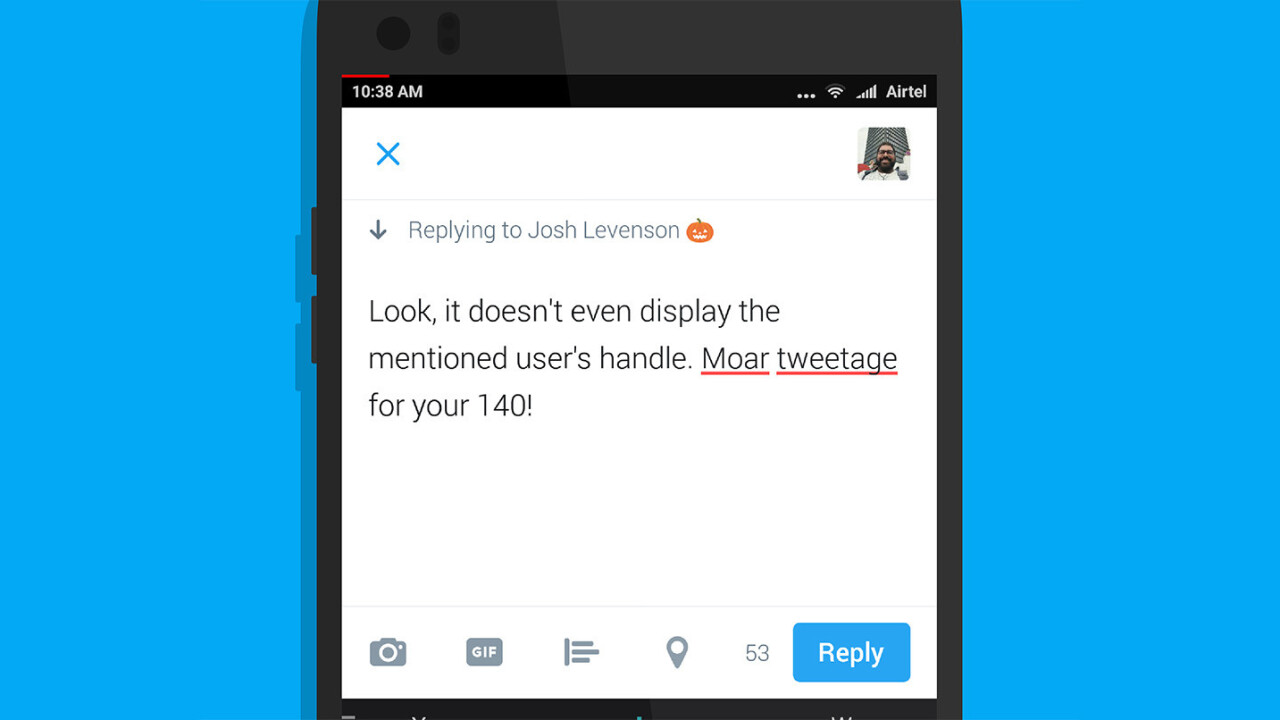 Twitter is testing relaxed character limits for replies