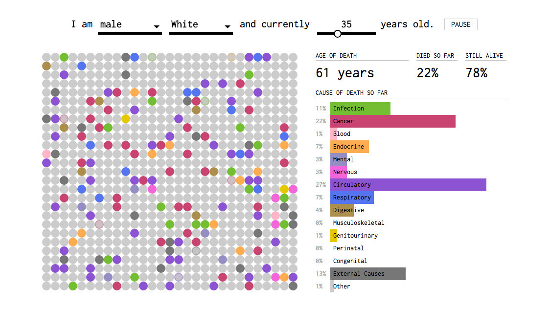 This weird simulator uses your sex, race and age to predict how you will die