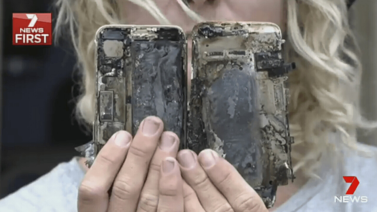 Surfer claims his iPhone 7 burst into flames and blew up his car