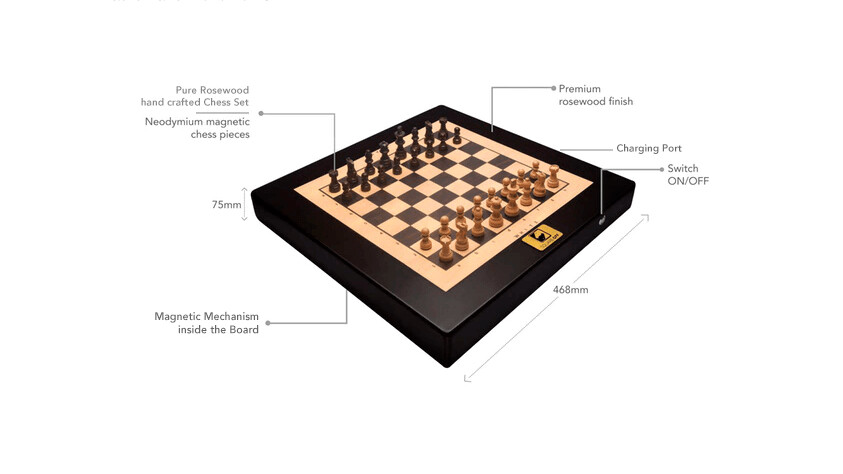 This smart chessboard straight out of 'Harry Potter' moves its pieces entirely hands-free
