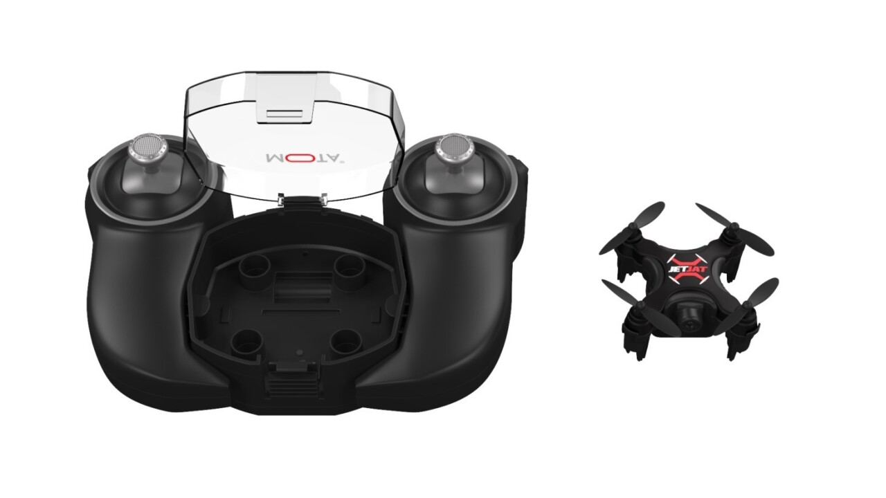 This nano drone carves up the skies with the tap of a single button