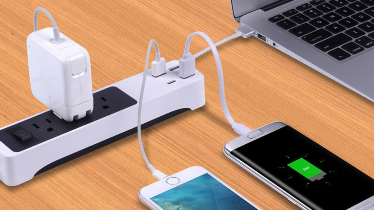 This smart power strip will charge your devices on the go