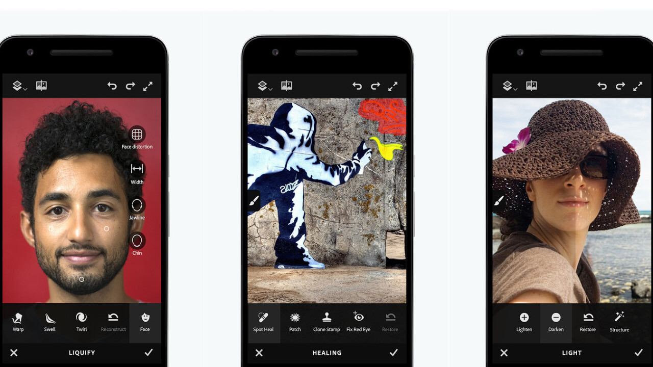 Adobe Photoshop Fix lets Android shutterbugs retouch photos like the pros