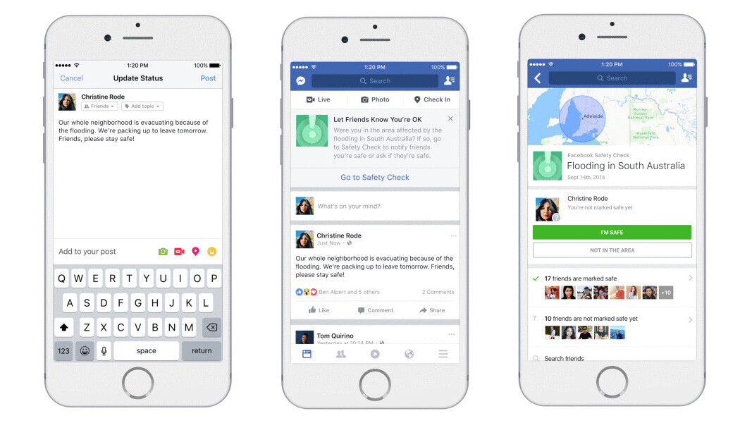 Facebook now lets users trigger Safety Checks