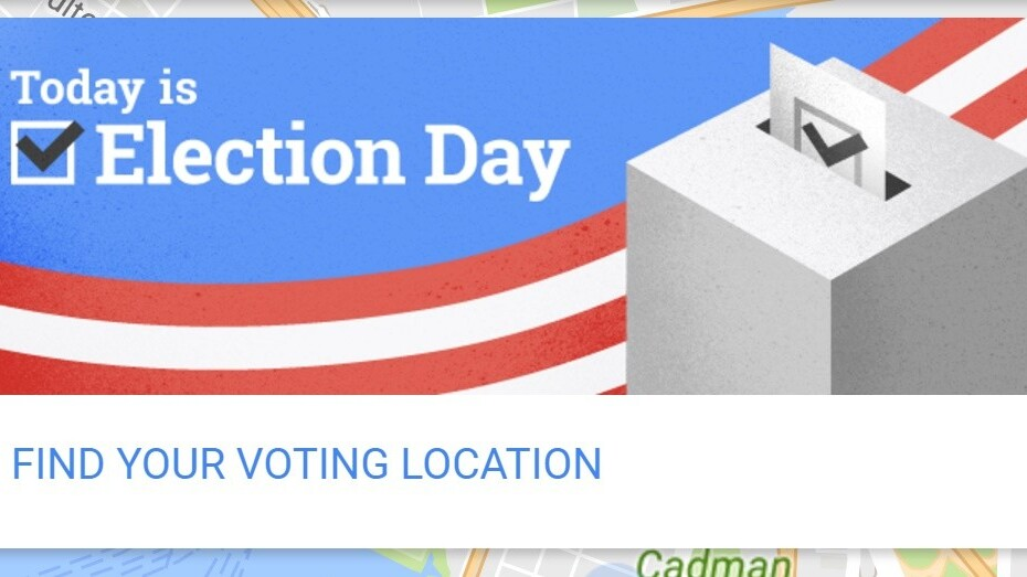 Google Maps makes it dead easy to find your polling place