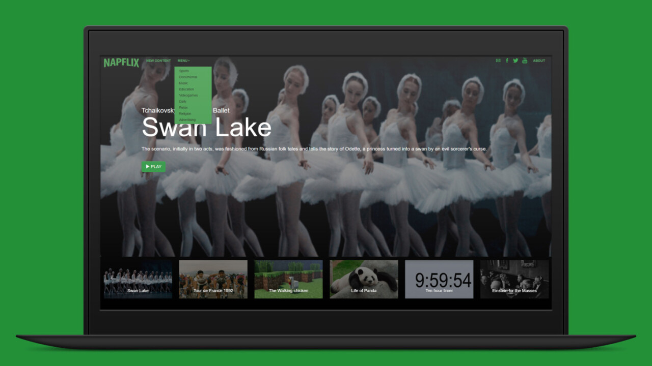 Napflix helps you fall asleep with YouTube's most boring videos