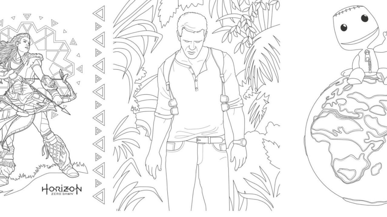 Sony has a coloring book for grown-up gamers because why the hell not?