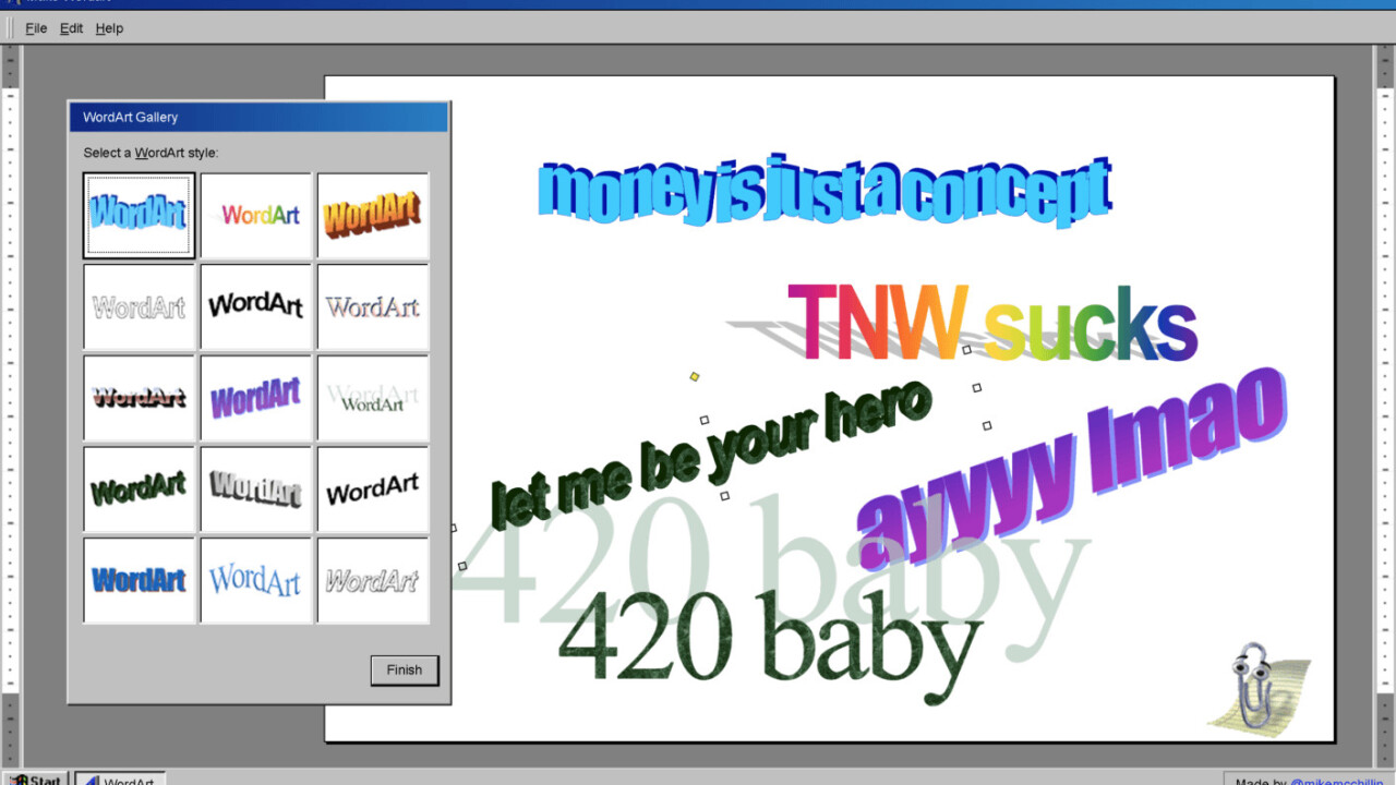 This awesome WordArt generator is a design blast from the past