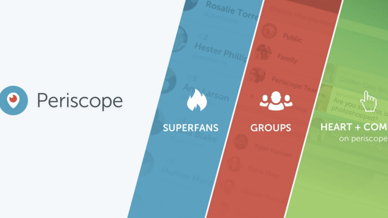 Periscope update brings three new ways to engage your audience