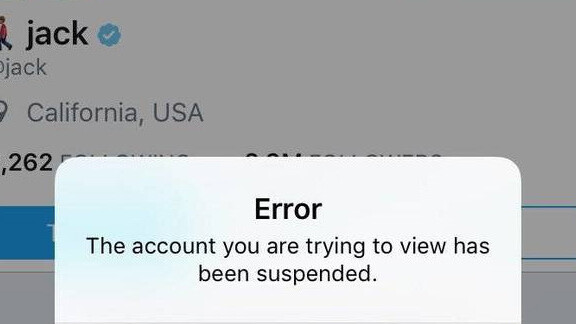 Twitter suspended CEO Jack Dorsey's account by mistake