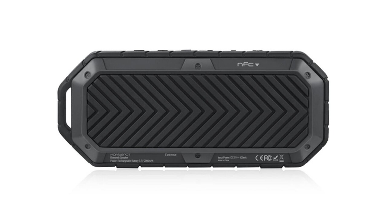 Take your tunes to the great outdoors with this rugged waterproof Bluetooth speaker (62% off)