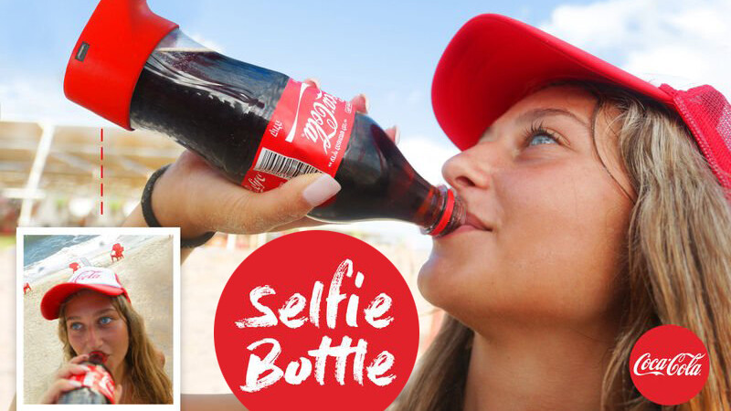 Coca-Cola 'selfie bottle' lets you snap pics as you sip your health away
