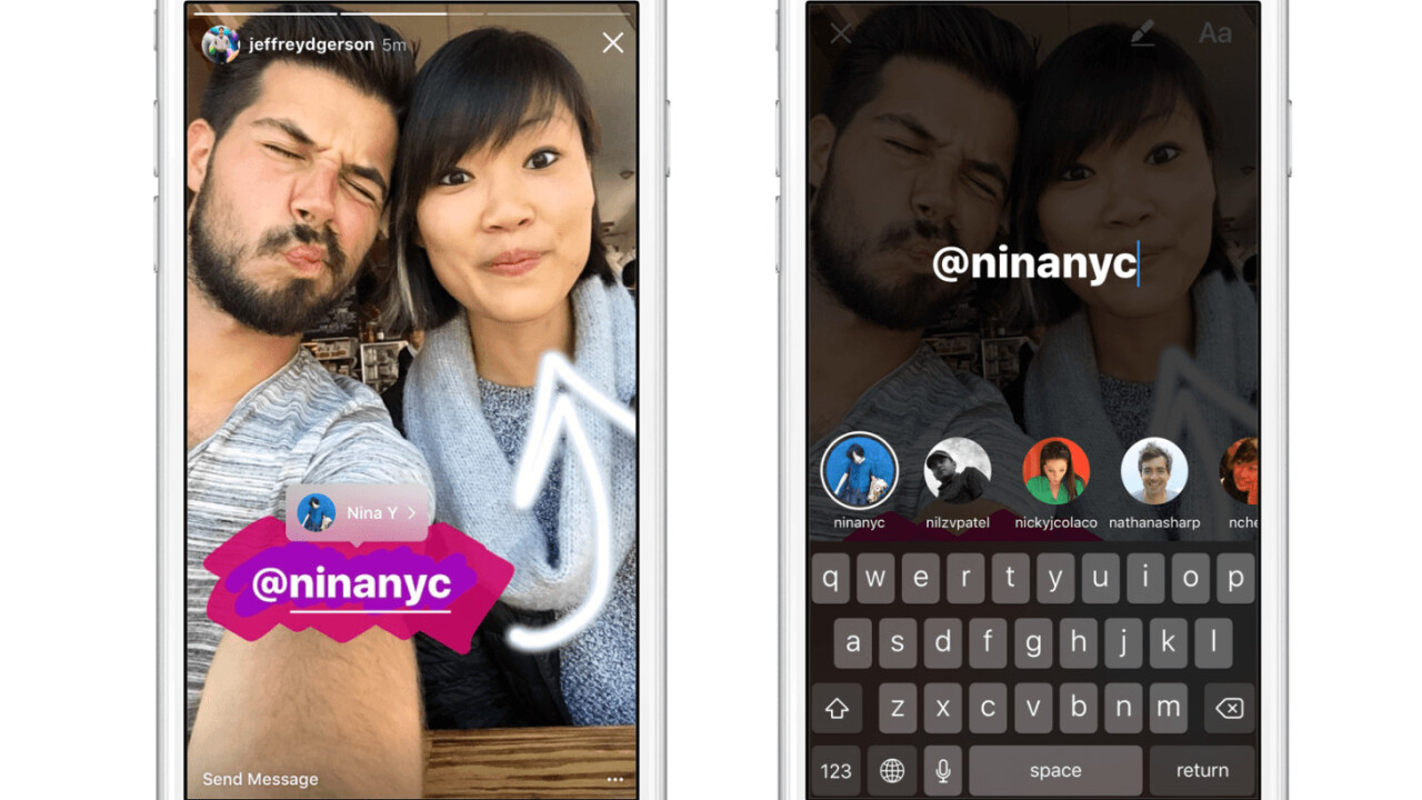 Instagram Stories now lets you add mentions, URLs and Boomerangs