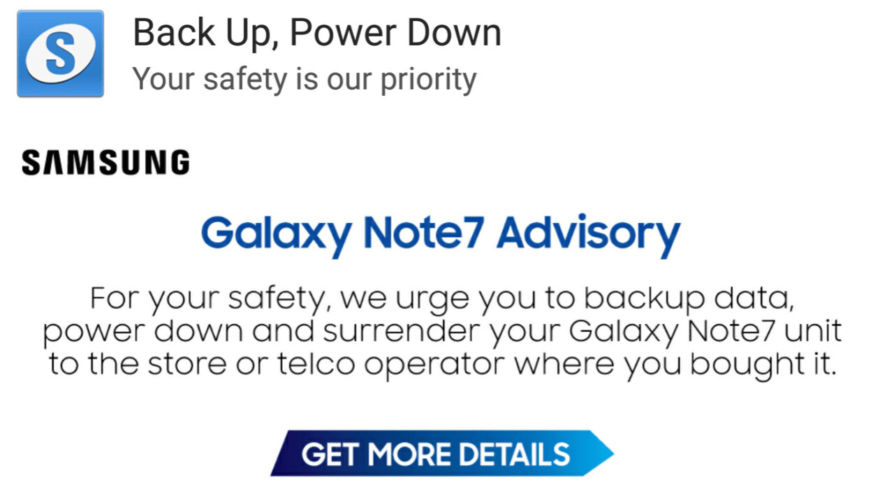 Samsung is wrongly recalling older Galaxy smartphones as Note 7's
