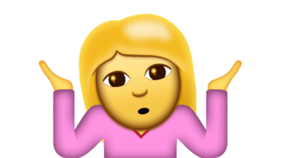 The shrug emoticon ¯\_(ツ)_/¯ gets the emoji treatment in iOS 10.2