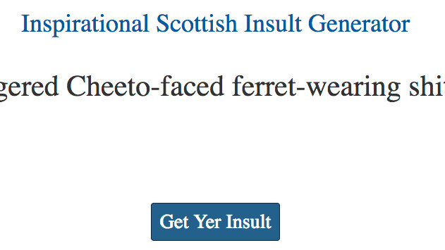 Celebrate St Andrew's Day with this amazing Scottish insult generator