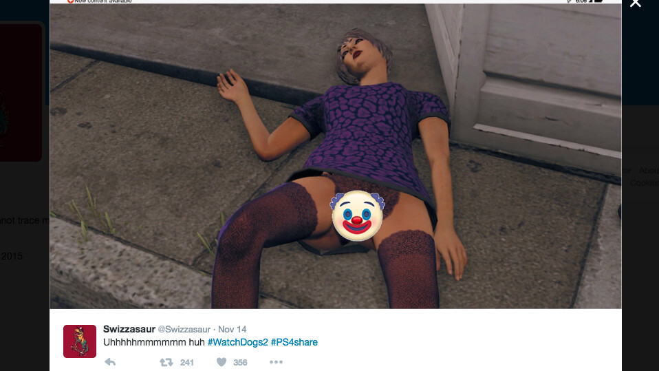 Watch Dogs 2 player spreads a hidden vagina, gets banned by Sony