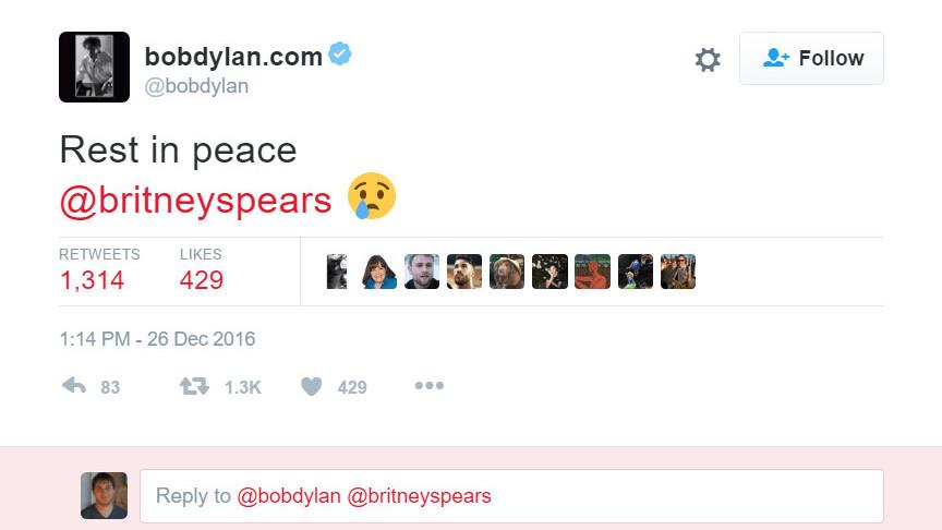 Britney Spears falls victim to cruel Twitter death hoax