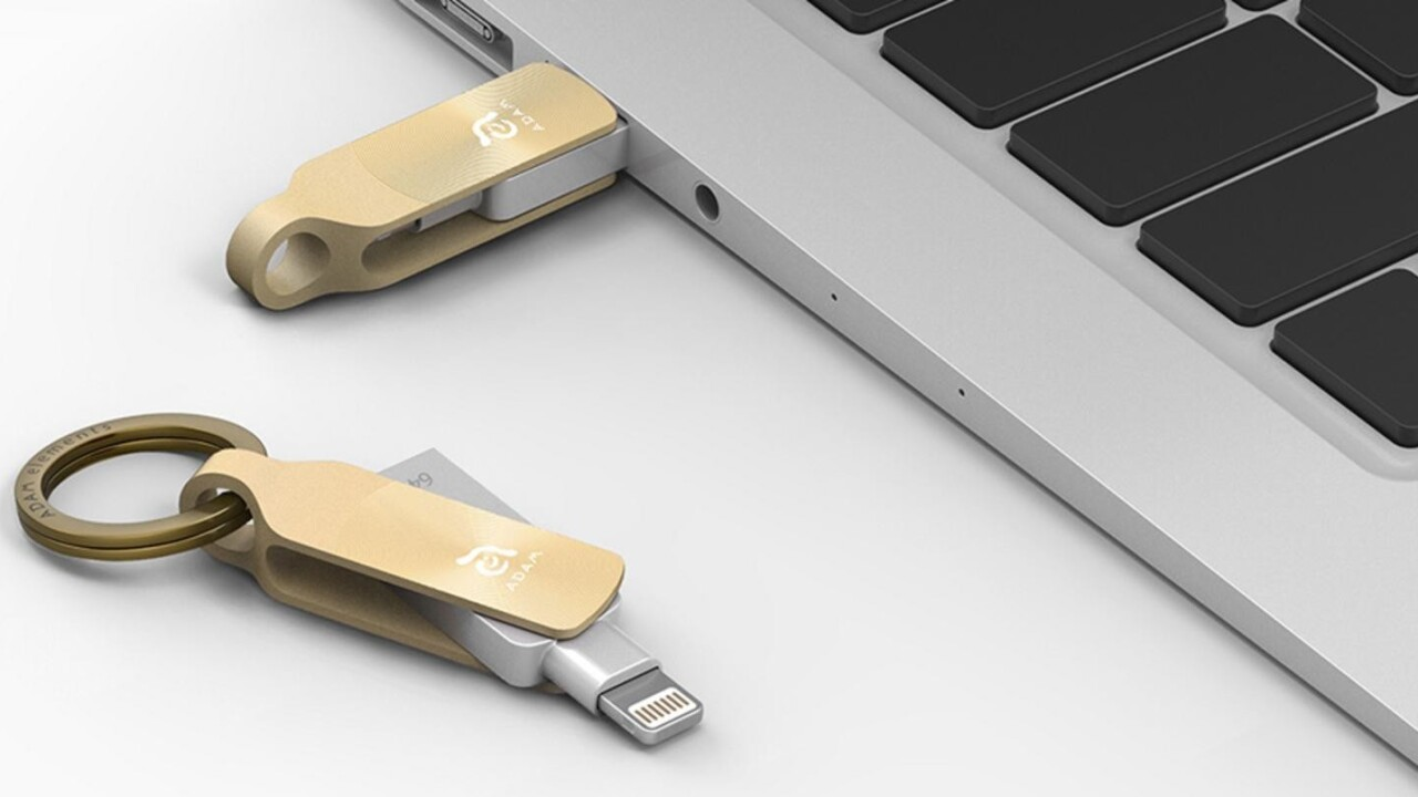 This amazing flash drive adds 128GB to your iPhone and latches to your keychain