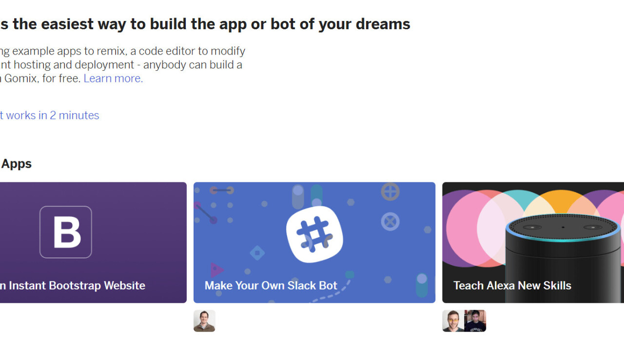 Fog Creek's Gomix makes bot and web development quicker and easier