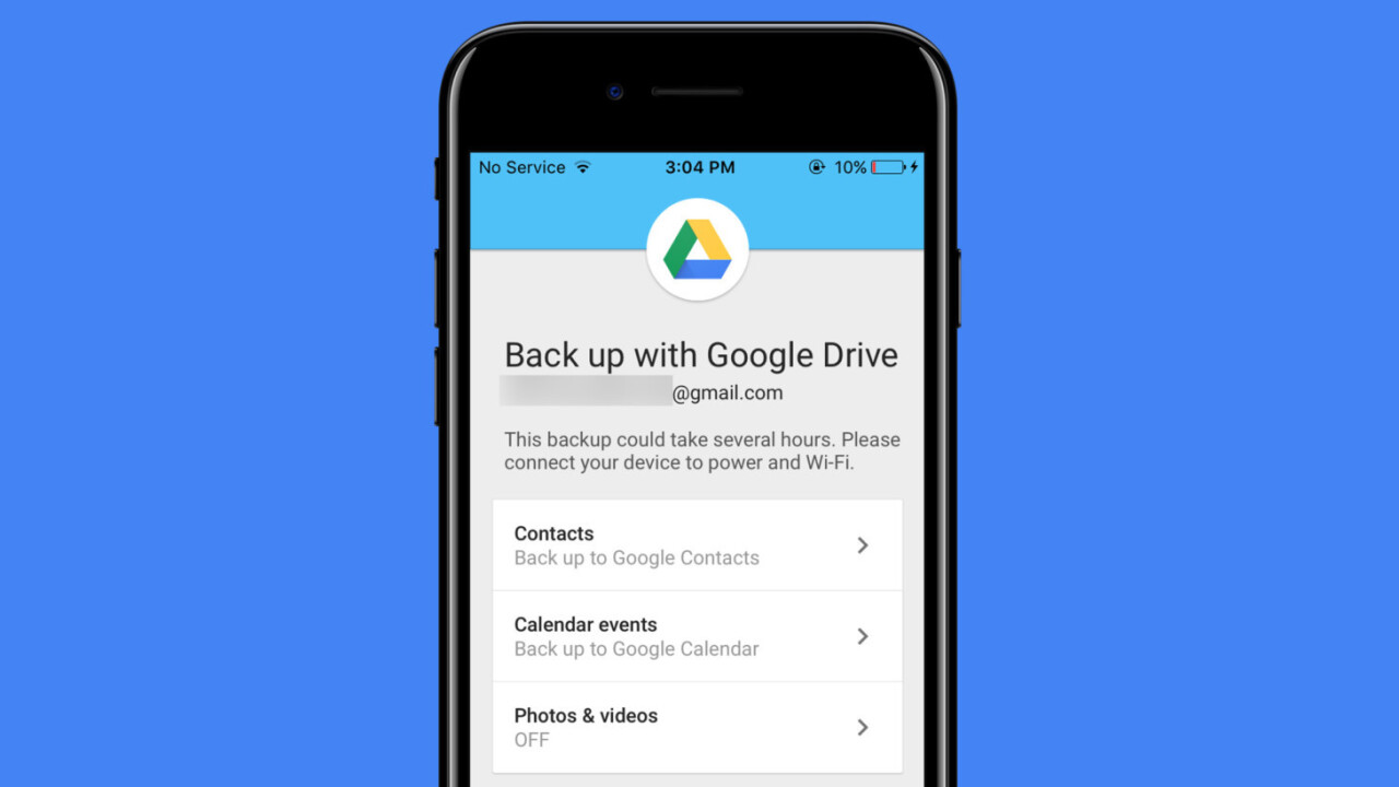 Google Drive now makes it easy to switch from iOS to Android