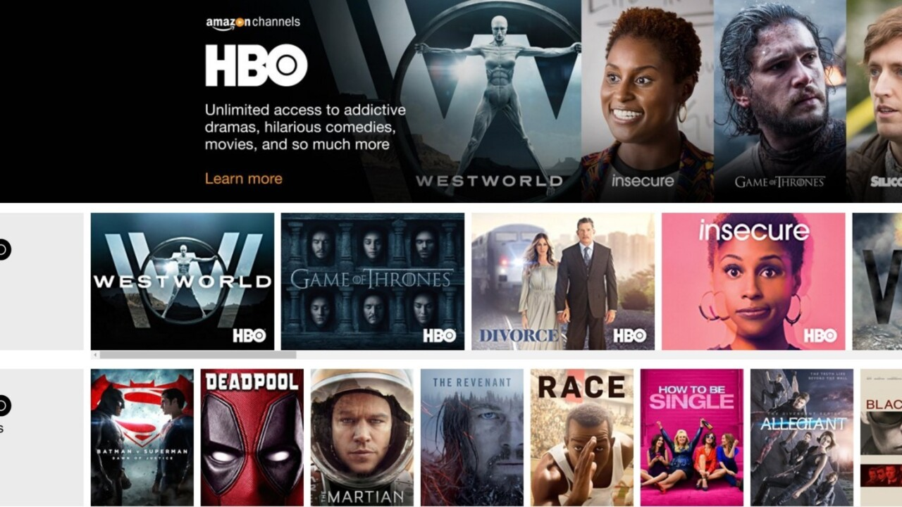 Amazon adds HBO and Cinemax streaming (for a price)