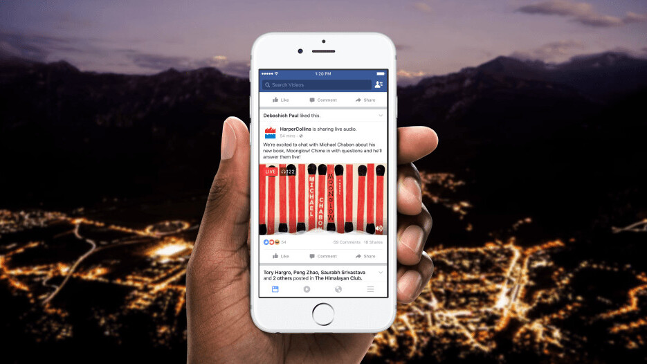 Facebook Live gets an audio-only mode for all the podcasters out there