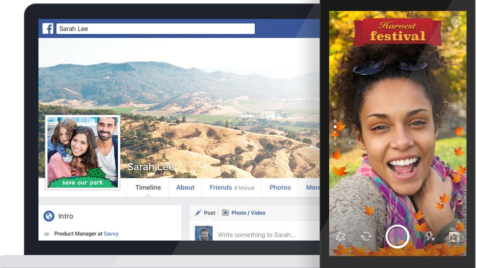 Facebook tests letting anyone upload Snapchat-like photo frames