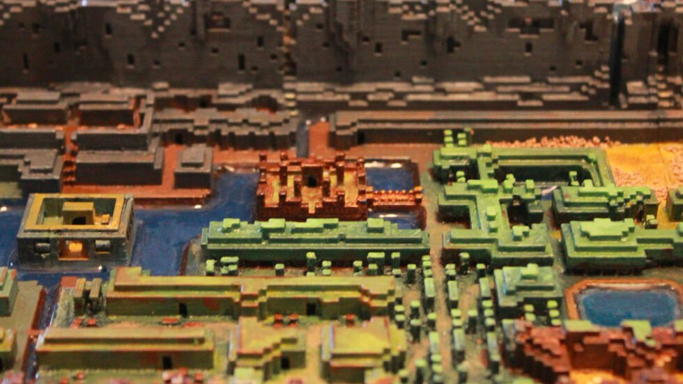 This 3D-printed map from the original Legend of Zelda was worth every penny