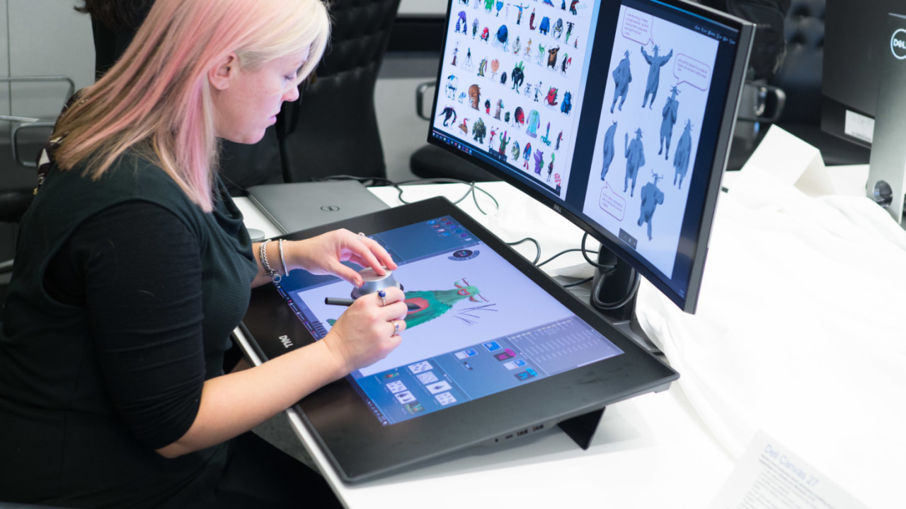 Dell takes on the Surface Studio with a ginormous drawing tablet