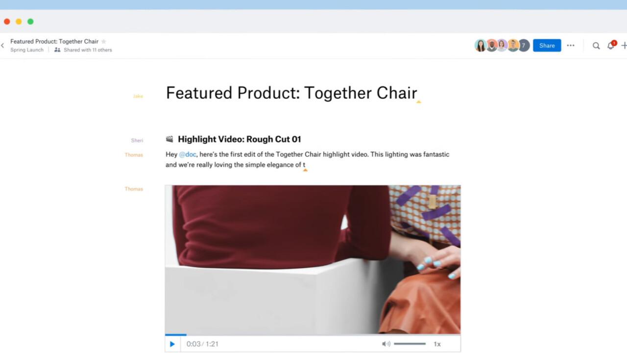 Dropbox's Paper app leaves beta to take on Google Docs