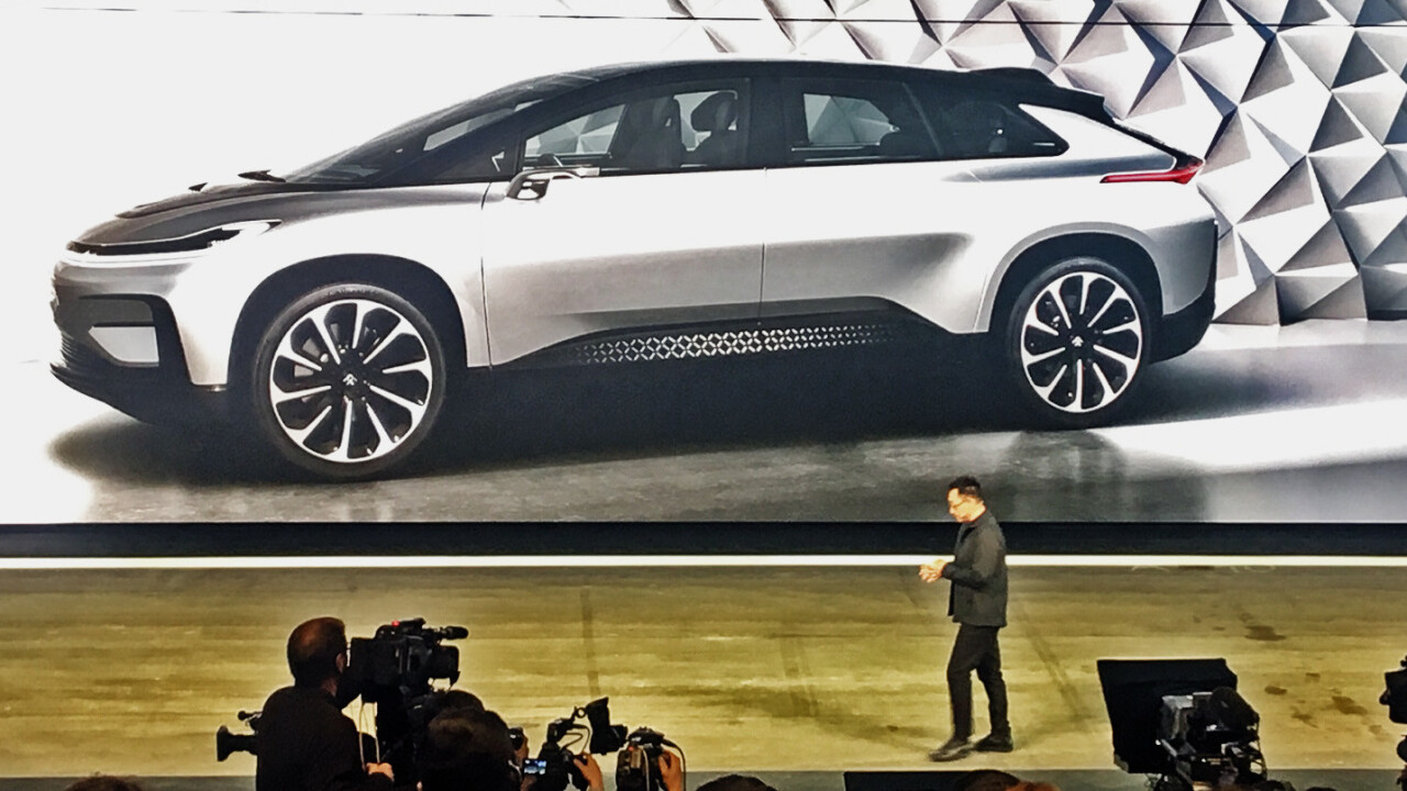 Faraday Future unveils the world's fastest electronic production car: 'It's faster than gravity'