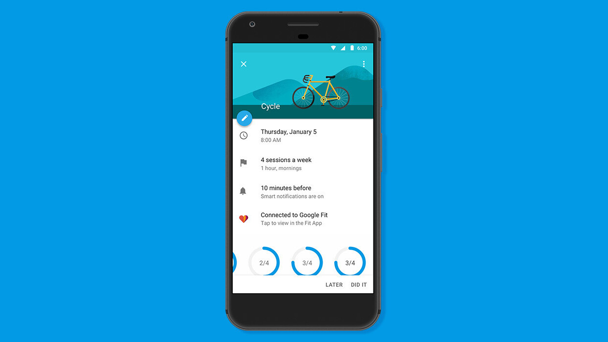 Google Calendar wants to help you lose all that holiday weight with new fitness features