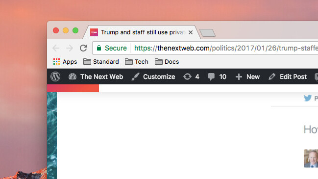 HTTPS is now enabled on TNW
