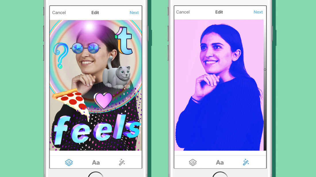 Tumblr ups it millenial cred with stickers and filters