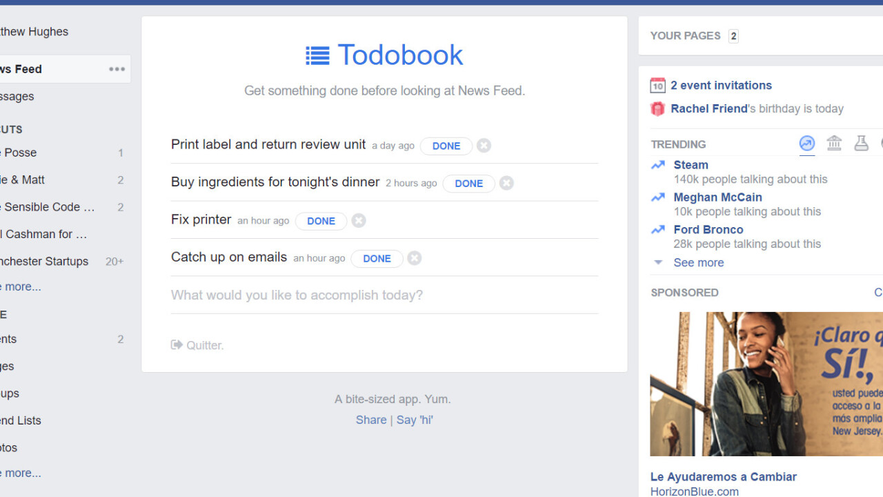 How to turn Facebook into a super-smart productivity tool