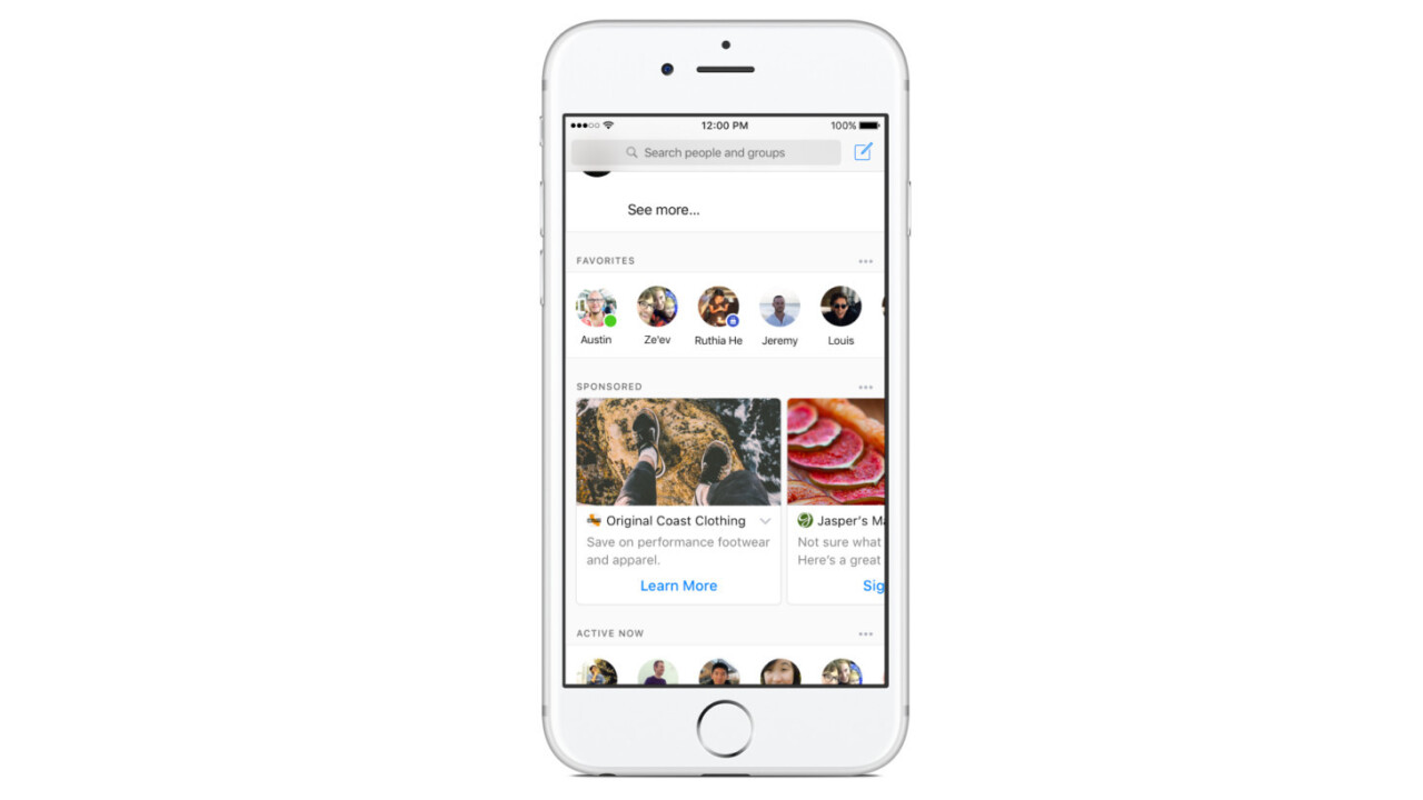 Facebook testing News Feed-like ads inside Messenger