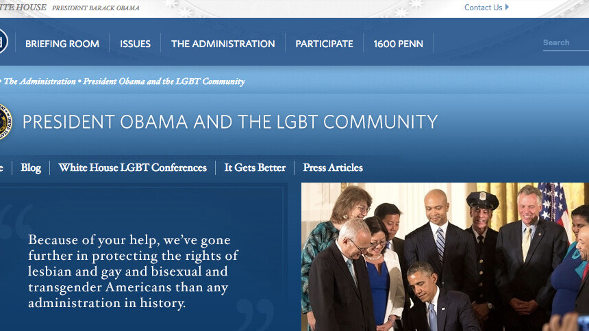 The White House's climate change and LGBT rights pages have disappeared
