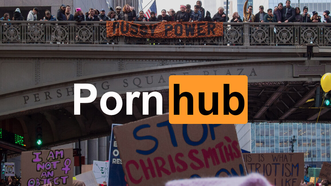 Pornhub reveals the Women's March caused serious drops in porn traffic