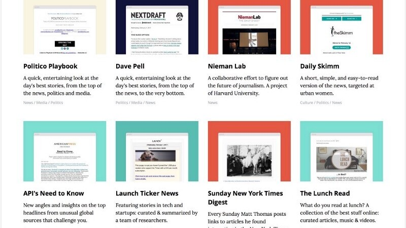Revue's Discover helps you find the most interesting email newsletters