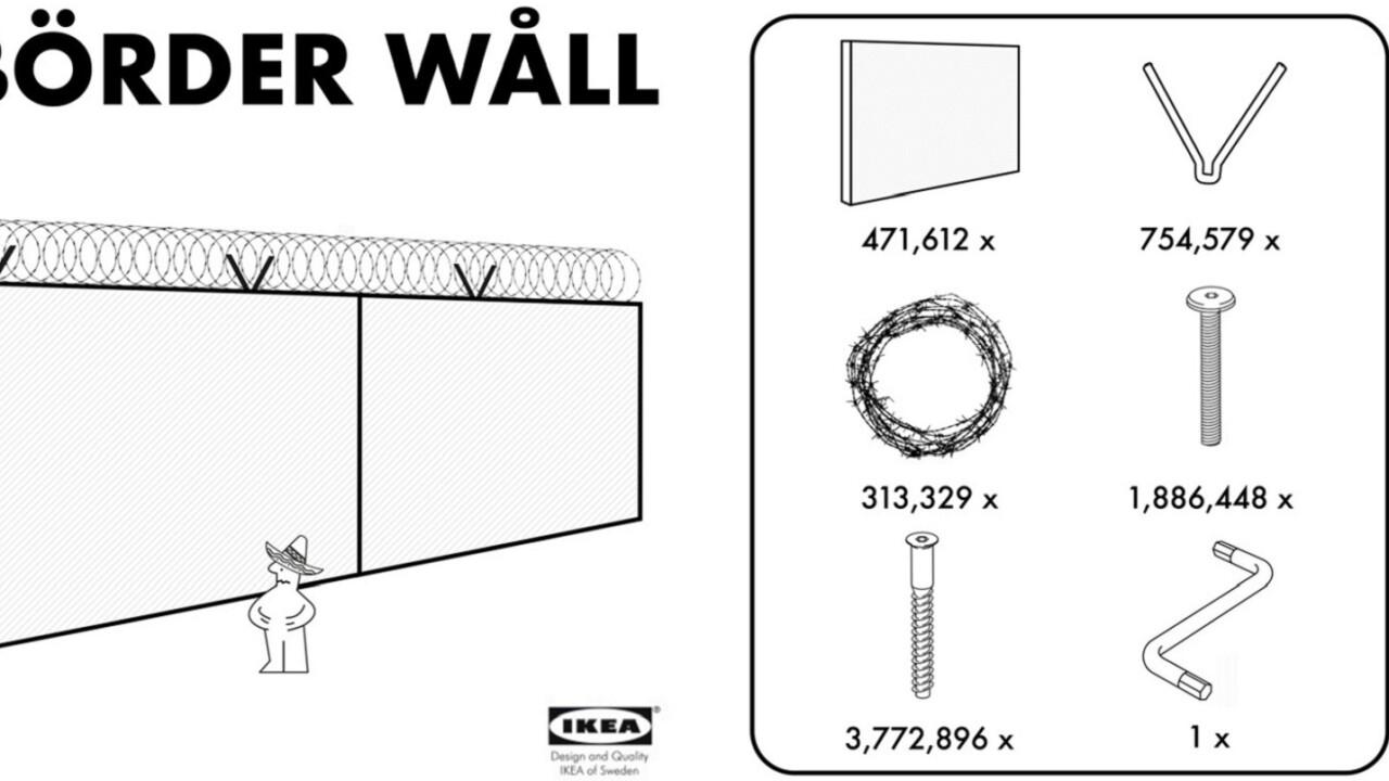 Faux IKEA ad offers President Trump an affordable 'Börder Wåll'