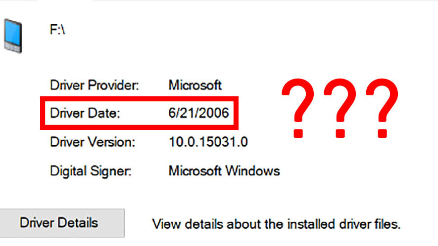 Here's why so many of your Windows drivers are from 2006