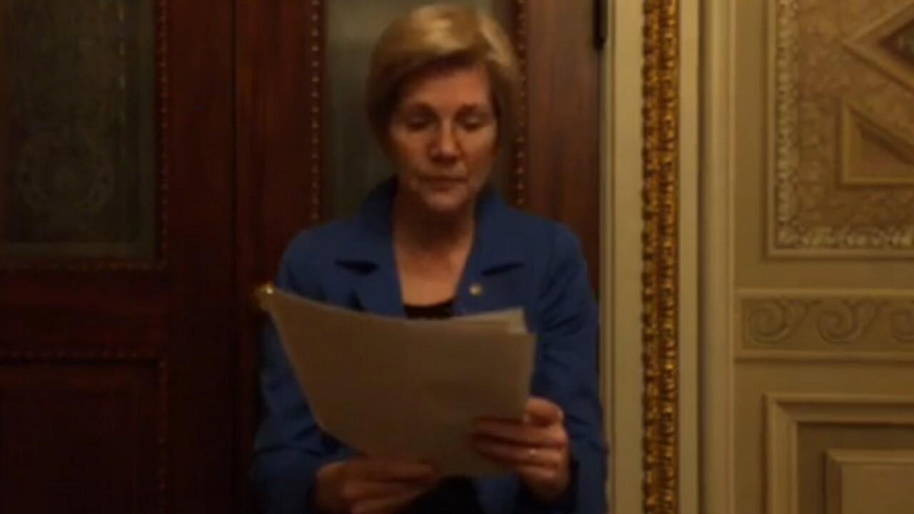 After being silenced, Elizabeth Warren's Facebook Live video goes viral