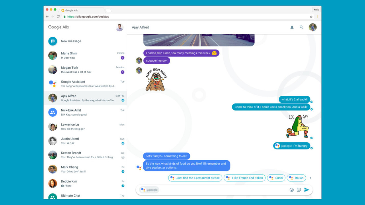 Google is bringing Allo to desktops soon, but maybe it should kill some other apps first
