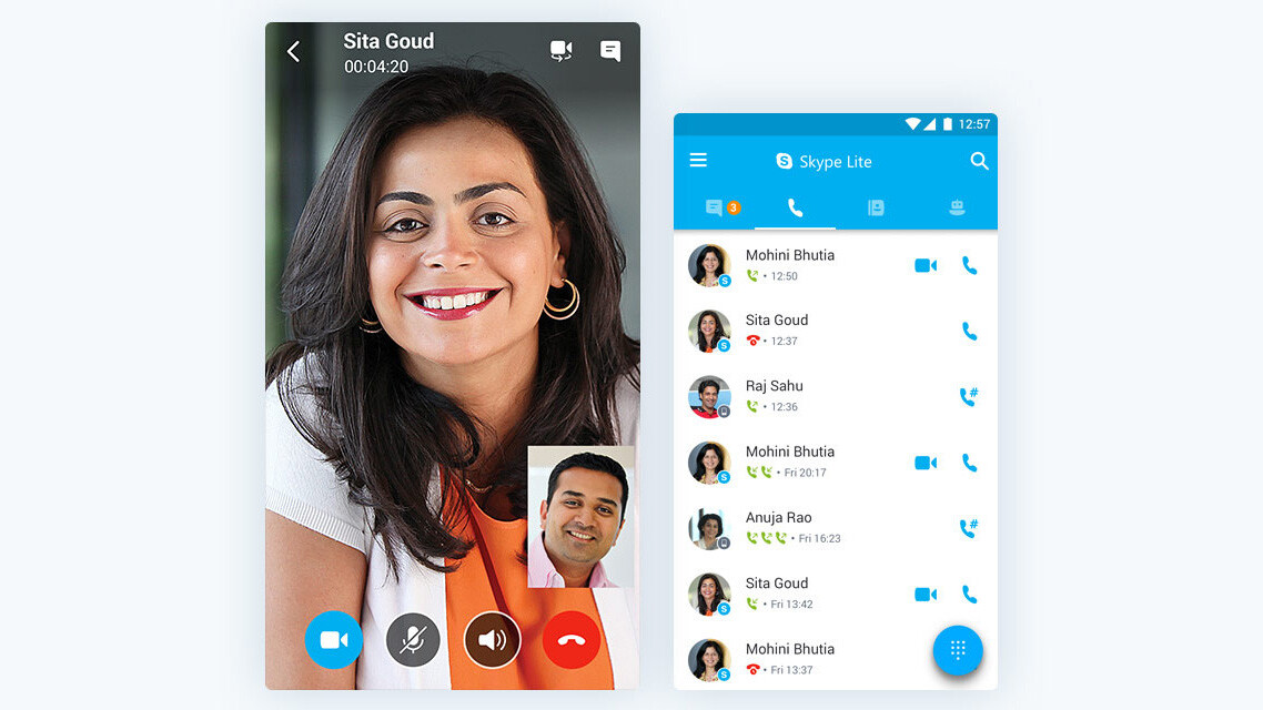 Microsoft announces Skype Lite for low connectivity areas, launching in India first