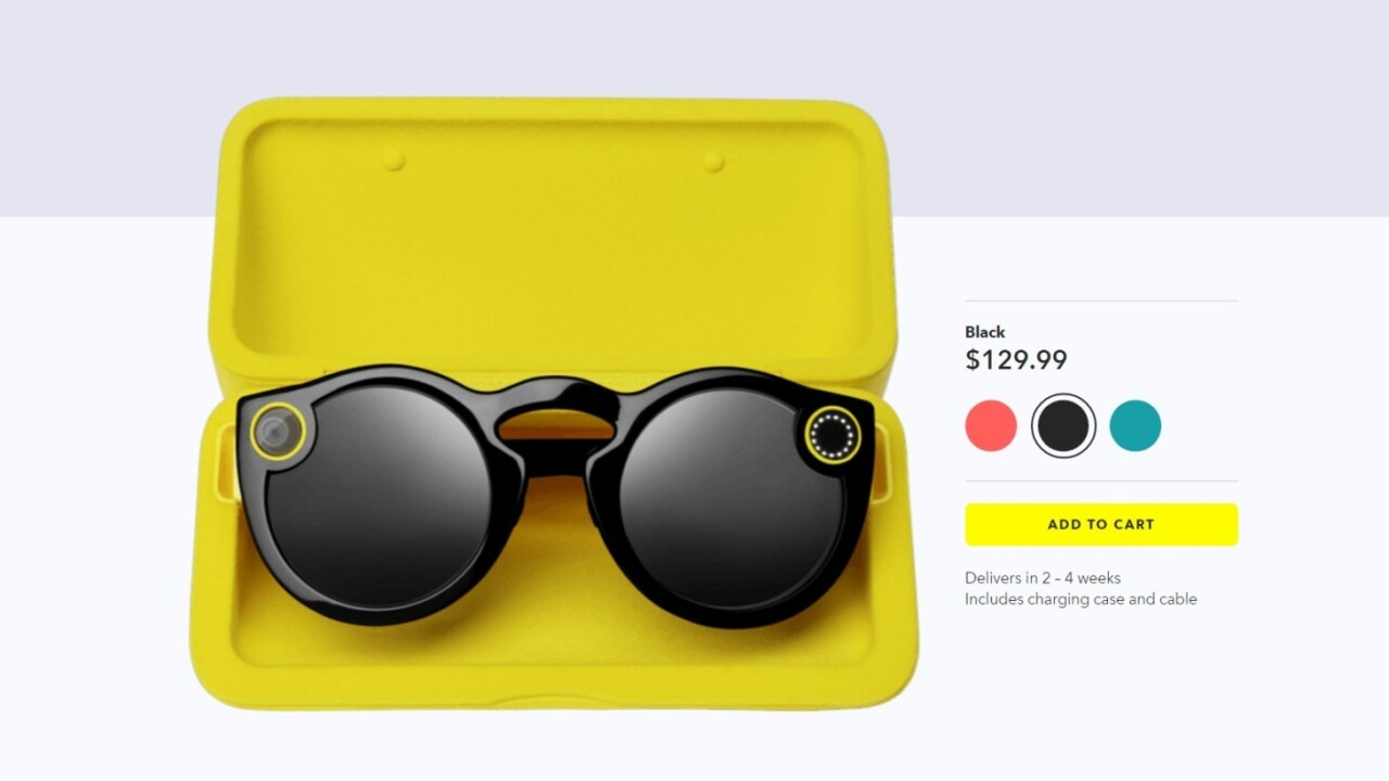 You can now buy Snapchat Spectacles without leaving your home