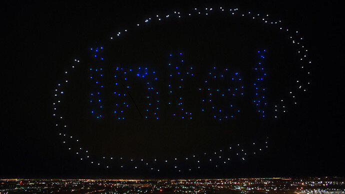 Intel's drone-powered show lit up Lady Gaga's Super Bowl performance
