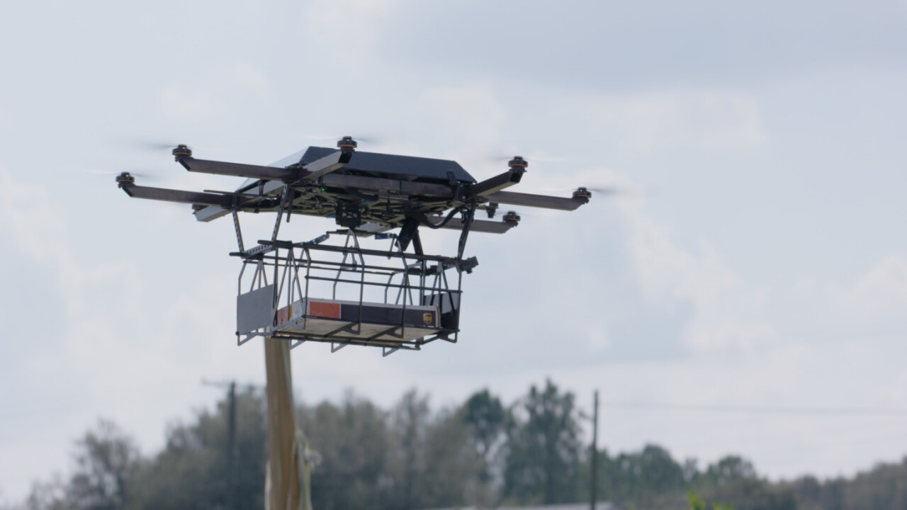 UPS successfully delivered a package with a drone